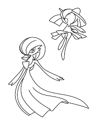 Pokemon Kirlia Coloring Pages