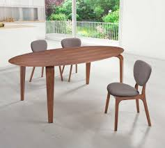 Oval Walnut Dining Table Z Modern Dining - Walnut dining room furniture