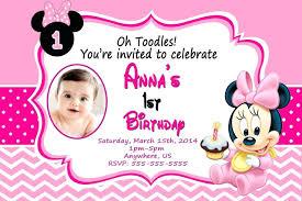 minnie mouse 1st birthday invitations templates free printable new