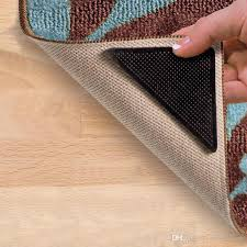 carpet mat double sided adhesive patch whole solid stick non slip silicone color box 4 tablets best thing to stop rugs moving