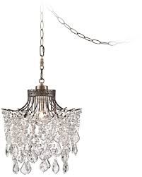 brielle antique brass 12 wide crystal plug in swag pendant ceiling pendant fixtures com