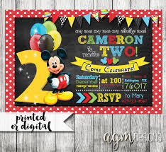 Mickey Mouse Clubhouse 2nd Birthday Invitations Invitation Mickey Mouse Magdalene Project Org