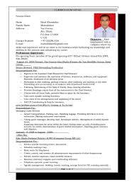 Resume For Computer Job Computer Operator Resume Therpgmovie 59