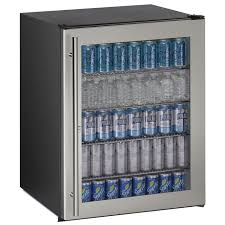 5 4 cu ft ada undercounter refrigerator w lock black cabinet with stainless steel framed glass door