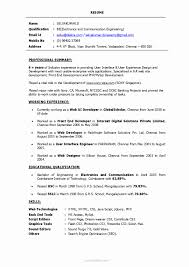 Php Sample Resume For Freshers Resume Format For PHP Developer Fresher Awesome Resume Format For 16