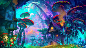 psychedelic nature art wallpaper