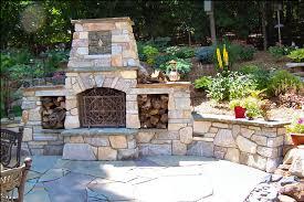 blue ridge river rock natural stone outdoor fireplace4
