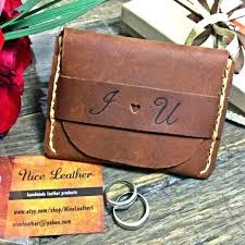 personalized leather gift executive portfolio tan gifts ofinger