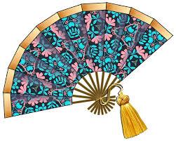 paper fan clipart. artbyjean - paper crafts: fashion fans crafty clip art: set a- fan clipart