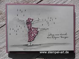 Lass Uns Durch Den Regen Tanzen Stempelart