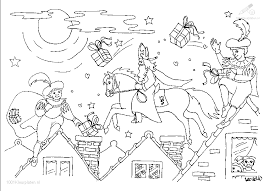 Kleurplaat Sinterklaas Sint Kleurplaat Sinterklaas En Piet