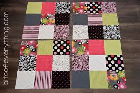 Big Block Quilt Patterns For Beginners New Big Block Quilt Pattern Bits Of Everything