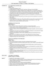 Corporate Controller Resume Samples Velvet Jobs