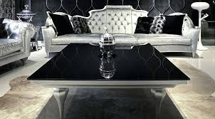 colored glass coffee table modern square with black marble top and wooden base painted silver color