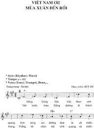 Sheet bài hát Việt Nam ơi mùa xuân đến rồi (... - Xemloibaihat.com cập nhật  miễn phí - #1 Xem lời bài hát
