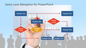 Flow Chart Powerpoint Presentation Work Process Flow Chart Metaphor For Powerpoint Slidemodel