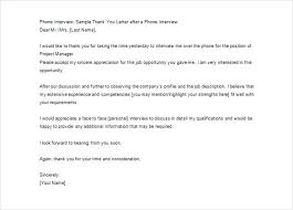 Thank You Note For A Phone Interview Awesome Collection Of Thank You Letter Sample For Phone Interview 9