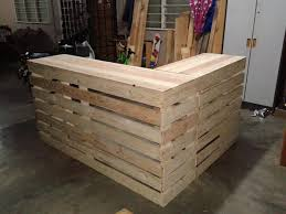 pallet desk counter or reception desk build pallet furniture