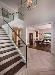 Interior Design: Beautiful Homes With Glass Stair Railing - Glass Stair  Railing