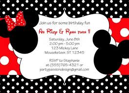 mickey and minnie invitation templates mickey and minnie invitations template resume builder