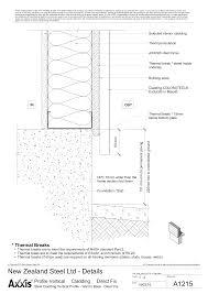 metal stud framing details. Steel Cladding Vertical Profile - Wall To Base Direct Fix Metal Stud Framing Details