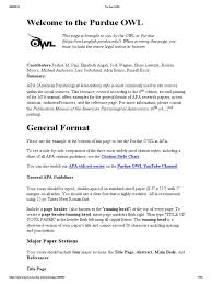 Purdue Owl Apa 6th Edition Digital Object Identifier Citation