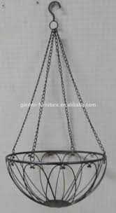 wholesale handicraft garden decorative metal plant wire hanging basket