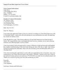 Front Desk Concierge Cover Letter Resume Front Desk Cover Letter