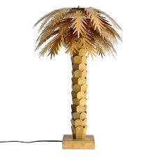 Hk Living Table Lamp Palm Gold Brass 45x45x68cm Leflivingcom