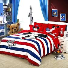 mickey mouse bed set twin twin bedding sets style red striped mickey mouse duvet cover bedding
