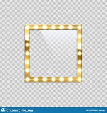 Square Bulb Frame Isolated On Transparent Background Vector
