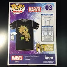 Funko Pop Tees Size Chart Funko Marvel Pop Tee Shirt T Shirt Guardians Of The