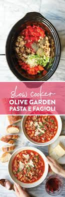 Slow Cooker Olive Garden Pasta e Fagioli - Damn Delicious