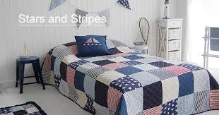 American stars and stripes Quilt in single and double. Bedroom ... & Single American Stars and Stripes Quilt £ 70 180cm x 250cm. On a single bed  the quilt falls to the floor or with a double bed the quilt falls 21.5cm  off ... Adamdwight.com