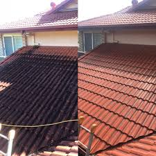 here are a few examples of our roof cleaning work in brisbane