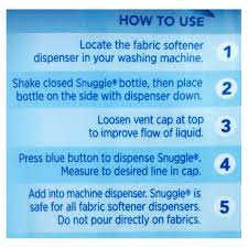 How Much Fabric Softener To Use Snuggle Exhilarations Liquid Fabric Softener Blue Iris And Ocean