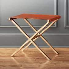 leather stools cb2