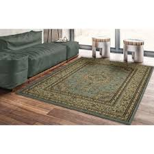 this review is from traditional oriental medallion light blue 5 ft x 7 ft area rug