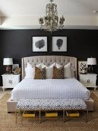 white or black furniture. Furniture And Accessories. A Black Canvas Lets Headboard Take Centre Stage. Liven Up The Setting By Using White Or Metallic Objects As Contrast.