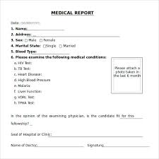 Sample Medical Report Template 20 Free Documents In Pdf Word