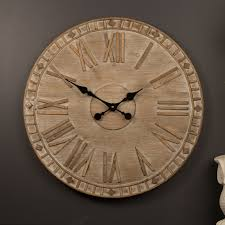 Small Picture Large Wall Clock 60cm Wooden Timber Handmade Industrial Designer Cool