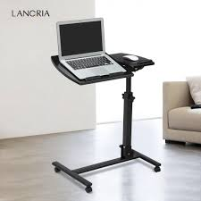 LANGRIA Laptop Rolling Cart Table Height Adjustable Mobile Laptop Stand Desk