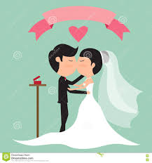 Cute Wedding Couple Kissing Hand Royalty Free Stock Photos Image