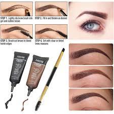 eyebrow brush kits waterproof henna eyebrow gel black brown makeup eyebrows 2pcs