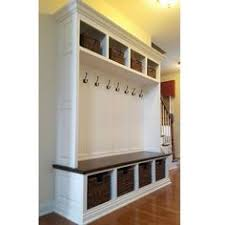 Mudroom Bench And Coat Rack 100 Wide Beadboard Hall Tree With 100 Upper And Lower Storage Cubbies 37