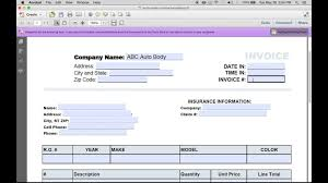 Car Repair Invoice Template Free Download Make An Auto Excel Pdf