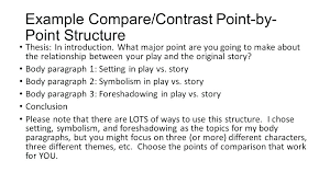 Comparing And Contrasting Essay Example Comparing And Contrasting