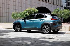 2018 hyundai kona photos. simple photos 2018 hyundai kona light blue rear quarter throughout hyundai kona photos