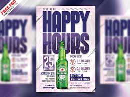 Happy Hour Flyer Happy Hour Offers Flyer Design Psd Psdfreebies Com