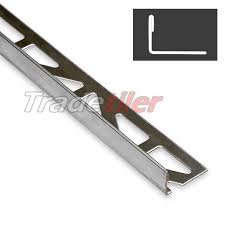 12 5mm straight edge stainless steel tile trim